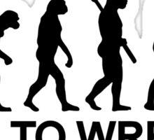 Evolution born to wrestle Sumo Sticker