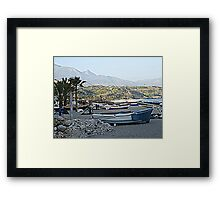 Nerja beach in HDR Framed Print