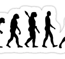 Evolution ping pong player Sticker