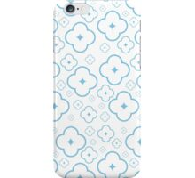 Abstract Blue Flower Pattern iPhone Case/Skin