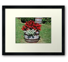 Flower Barrel Framed Print