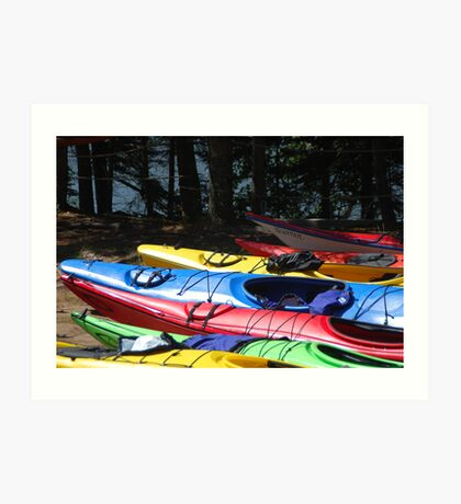 Kayaks of Cape Breton Art Print