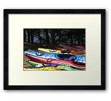Kayaks of Cape Breton Framed Print