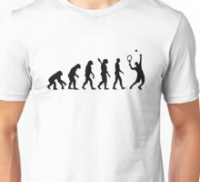 Evolution Tennis player  Unisex T-Shirt
