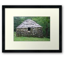Stone Hut on Cape Breton Island Framed Print
