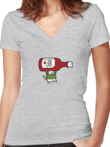 Catsup Women's Fitted V-Neck T-Shirt