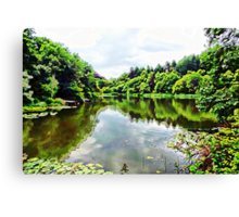 Trees and Lake Scotland Canvas Print