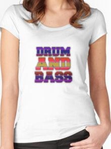 DRUM AND BASS! Women's Fitted Scoop T-Shirt