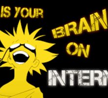 Your Brain on Internet Sticker
