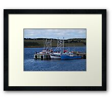 Cape Breton Fishing Vessels Framed Print