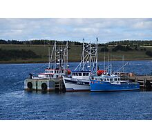 Cape Breton Fishing Vessels Photographic Print