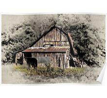 Old Roadside Barn Poster
