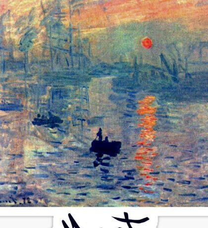 Monet: Impressions of Sunrise Sticker