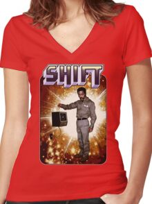 Shift! You bad mother-get back to work! Women's Fitted V-Neck T-Shirt