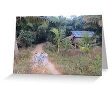 Bicycles at Dawn Greeting Card