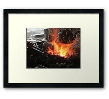Hot coals Framed Print