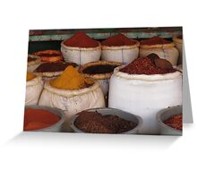 A bag of spice Greeting Card
