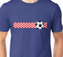 Football Stripes Croatia Unisex T-Shirt