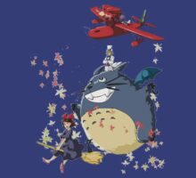 Studio Ghibli Gang in the Sky by NeosporinSwag