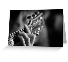 Silent music Greeting Card