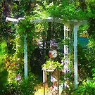 Hidden Garden With Clock by Susan Savad