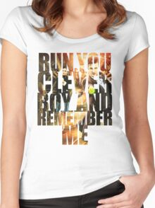 Run You Clever Boy and Remember Me Women's Fitted Scoop T-Shirt