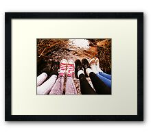 SHOeS and WaTER Framed Print