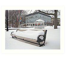 Park Bench in Kingston, NY Art Print