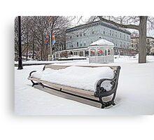 Park Bench in Kingston, NY Metal Print