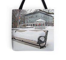 Park Bench in Kingston, NY Tote Bag