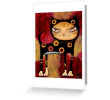 Babycat Gets Her Groove - Cat Art by Angieclementine Greeting Card