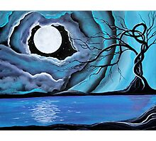 Surreal Landscape - by Angieclementine tree landscape moon Photographic Print