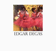Edgar Degas: Ballerinas in Pink Women's Fitted V-Neck T-Shirt