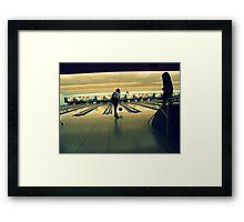 Bowling baby Framed Print