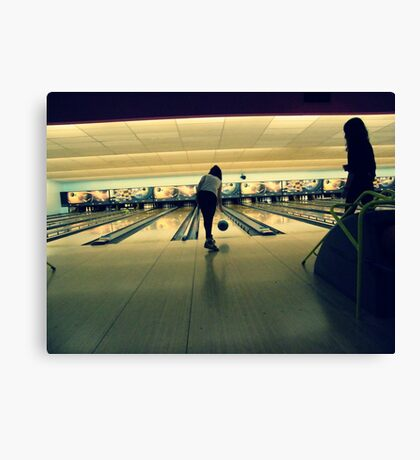 Bowling baby Canvas Print