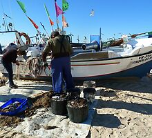 Unloading the Fishing by Janone
