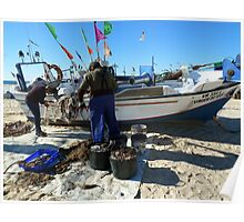 Unloading the Fishing Poster