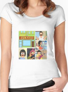Bobs Burgers Collage Women's Fitted Scoop T-Shirt