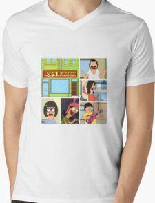 Bobs Burgers Collage Mens V-Neck T-Shirt