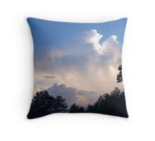 Afternoon Clouds on a Rainy Day Throw Pillow