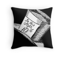 Alice in Wonderland Classic Mad Hatter Hat Throw Pillow