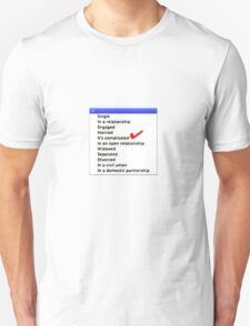 Its complicated Relationship status T-Shirt