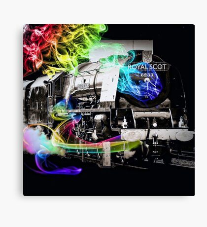Time Travel Train Canvas Print