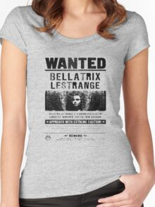 Bellatrix Lestange Wanted  Women's Fitted Scoop T-Shirt