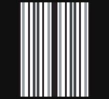 Stripes in Gray Kids Tee
