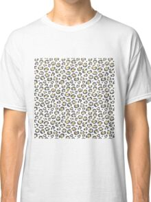 Glamorous Faux Sparkly Gold & Silver Leopard Classic T-Shirt