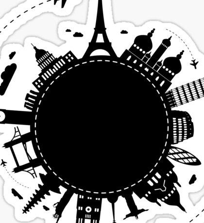 Around The World Sticker