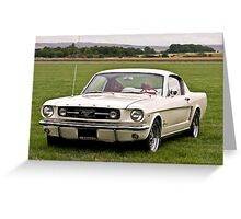 Ford Mustang fastback Greeting Card