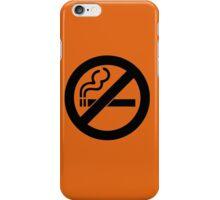 smoke  prohibited no smoking iPhone Case/Skin
