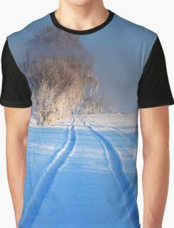 Winter Wonderland - Icy Trees Graphic T-Shirt